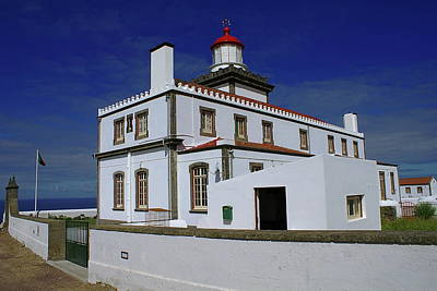 Photograph - Ponta Da Ferraria Lighthouse by Anthony Dezenzio