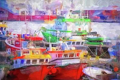 Photograph - Ponta Delgada Boats by Alice Gipson