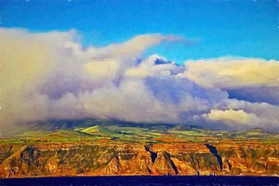 Photograph - Ponta Delgada Farewell Clouds by Alice Gipson