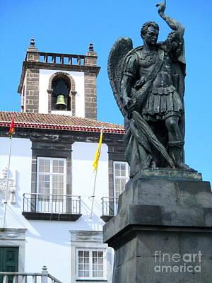 Photograph - Ponta Delgada Statue 1 by Randall Weidner