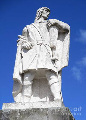 Photograph - Ponta Delgada Statue 10 by Randall Weidner