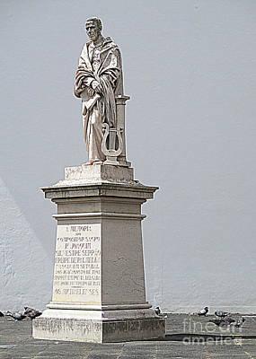 Photograph - Ponta Delgada Statue 2 by Randall Weidner