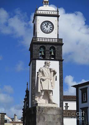 Photograph - Ponta Delgada Statue 4 by Randall Weidner