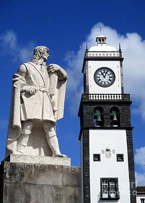 Photograph - Ponta Delgada Statue 7 by Randall Weidner