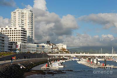 Ponta Delgada Waterfront Print by Gaspar Avila