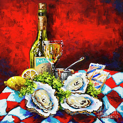 Painting - Pontchartrain Leblanc With Oysters by Dianne Parks