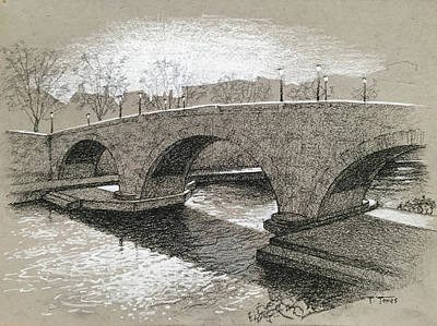 Drawing - Ponte Cestio by Timothy Jones