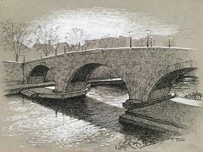 Drawing - Ponte Cestio by Timothy Jones