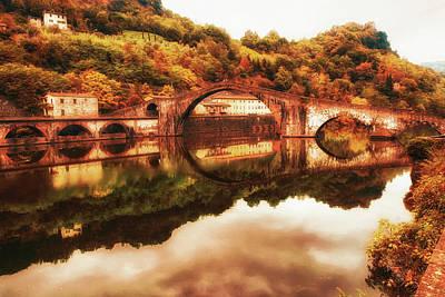 Ponte Della Maddalena - Dreamy Landscape Art Print by Frank Andree