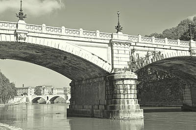 Photograph - Ponte Giuseppe Mazzini In Rome by JAMART Photography