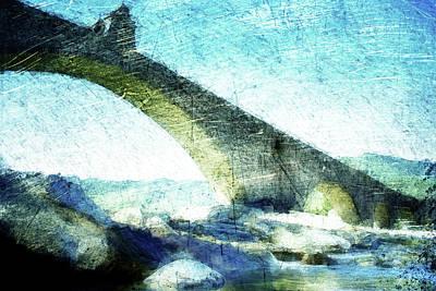 Crooked Digital Art - Ponte Gobbo by Andrea Barbieri