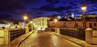 Photograph - Ponte Romana At Blue Hour / Tavira, Portugal by Barry O Carroll