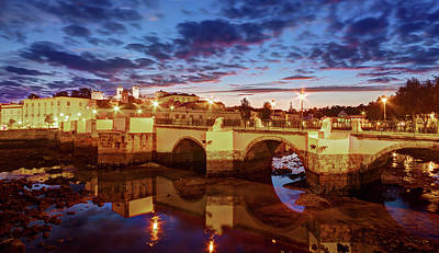 Photograph - Ponte Romana At Dusk - Tavira, Portugal by Barry O Carroll