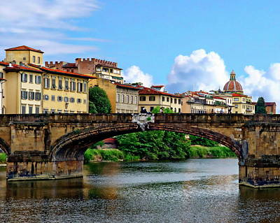Photograph - Ponte Santa Trinita by Anthony Dezenzio