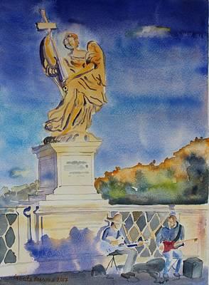 Painting - Ponte Sant'angelo, Rome, by Geeta Biswas