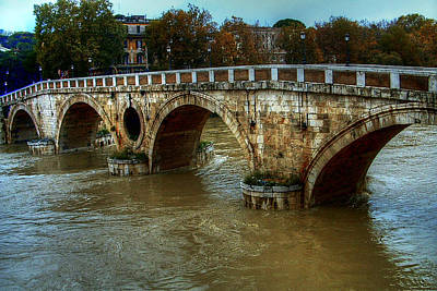 Ponte Sisto Bridge Rome Art Print