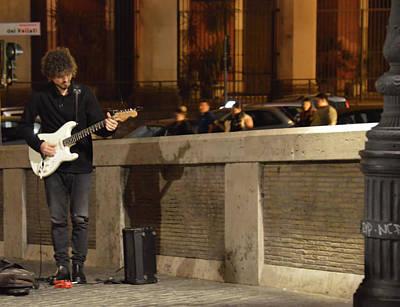 Photograph - Ponte Sisto Musician by JAMART Photography
