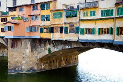 Toscana Digital Art - Ponte Vecchio 2.0 by Giuseppe Cesa Bianchi