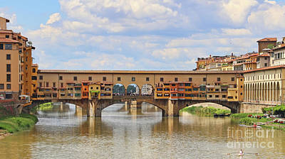 Photograph - Ponte Vecchio  9881 by Jack Schultz