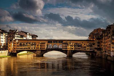 Cloudscape Photograph - Ponte Vecchio by Andrew Soundarajan