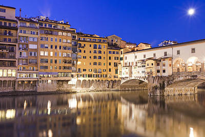 Ponte Vecchio At Night Art Print by Andre Goncalves