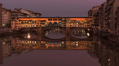 Photograph - Ponte Vecchio At Sunset by Steven Greenbaum