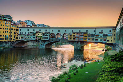 Photograph - Ponte Vecchio Bridge by David Cote
