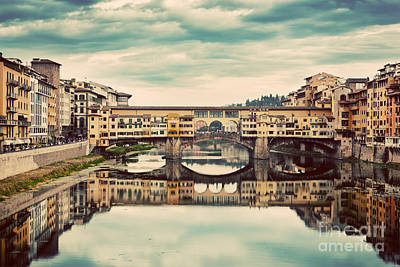 Photograph - Ponte Vecchio Bridge In Florence, Italy by Michal Bednarek