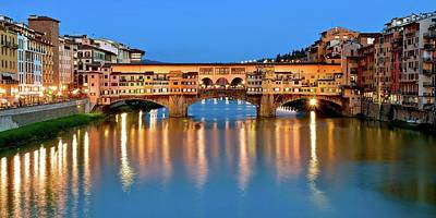 Photograph - Ponte Vecchio Classic View by Frozen in Time Fine Art Photography