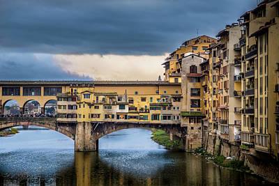 Photograph - Ponte Vecchio E Gabbiani by Sonny Marcyan