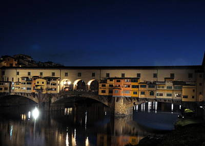 Photograph - Ponte Vecchio- Florence- Italy by Gabriella Szekely