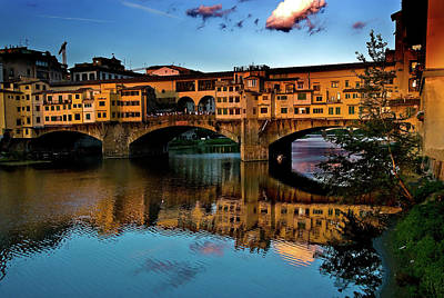 Photograph - Ponte Vecchio From West  by Harry Spitz
