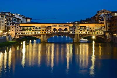 Ponte Vecchio Art Print by Frozen in Time Fine Art Photography