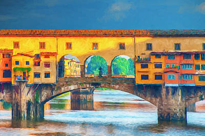 Digital Art - Ponte Vecchio Impression by Mick Burkey