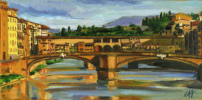 Ponte Vecchio In 2007 Art Print by Jennie Traill Schaeffer