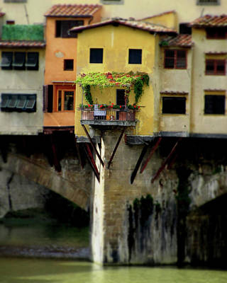 Photograph - Ponte Vecchio - Italian River House by Best Captured