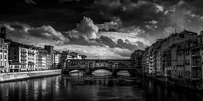 Ponte Vecchio Of Florence Art Print by Andrew Soundarajan