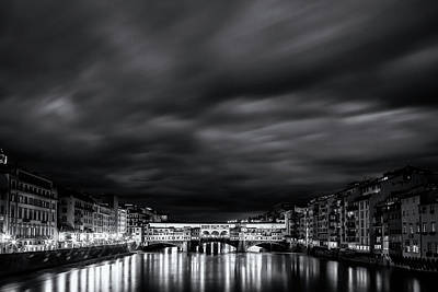 Ponte Vecchio Reflections Art Print by Andrew Soundarajan
