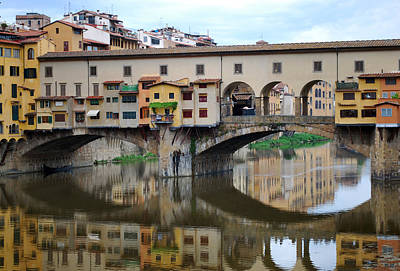 Ponte Vecchio Reflects. Art Print