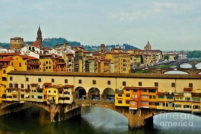 Photograph - Ponte Vecchio View by Patricia Strand