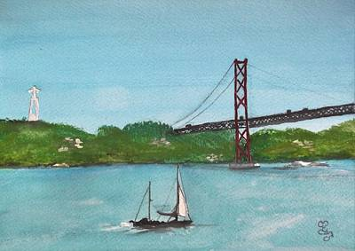 Painting - Ponte Vinte E Cinco De Abril by Carole Robins