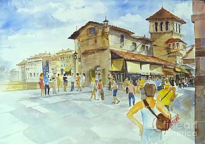 Painting - Ponti Vecchio by Gerald Miraldi