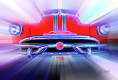 Digital Art - Pontiac 1953 by Ed Dooley