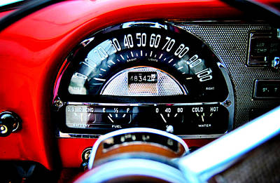 Photograph - Pontiac Chieftain 1954 Dash by Nathan Little
