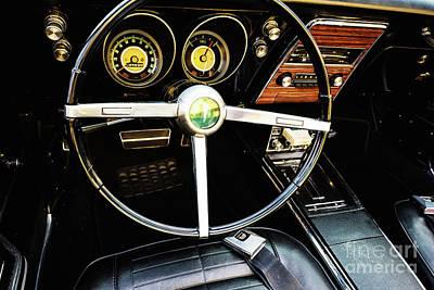 Photograph - Pontiac Dashboard by M G Whittingham