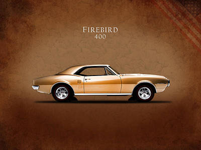 Pontiac Firebird 400 1967 Art Print by Mark Rogan