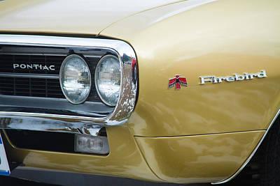 Photograph - Pontiac Firebird Gold 1967 by James BO Insogna