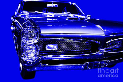Domestic Car Digital Art - Pontiac Gto Blue by Wingsdomain Art and Photography