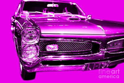 Pontiac Gto Magenta Art Print by Wingsdomain Art and Photography
