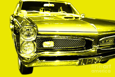 Pontiac Gto Yellow Art Print by Wingsdomain Art and Photography